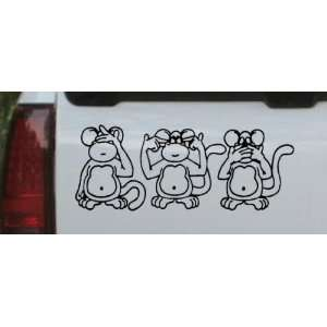 Speak No Evil See No Evil Hear No Evil Monkeys Funny Car Window Wall