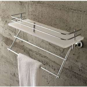 Toscanaluce 1538 Frosted Glass 13 Inch Bath Bathroom Shelf
