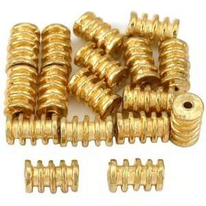 15g Bali Coil Tube Beads Gold Plated 9mm Approx 16: Home