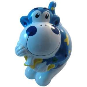 Ceramic Monkey Coin and Money Bank, Blue