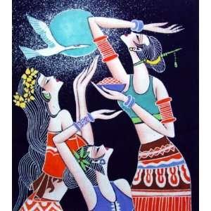 High Quality Chinese Batik Tapestry Dancing Crane