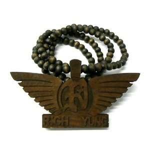 Good Wood RICH & YUNG Huge HIP HOP Pendant Necklace Br