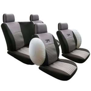 Car Seat Cover Full Set with Airbags Cutout Racing Gray/black