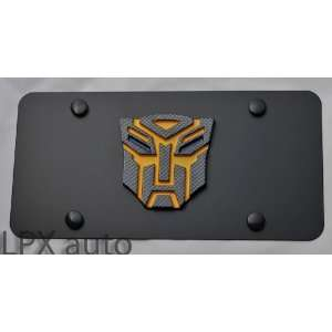 Transformers Autobot logo Black Steel License Plate