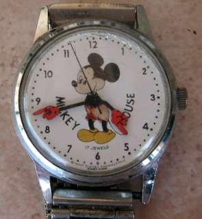 Disney Mickey Mouse 1977 Bradley 17 Jewels Watch RARE!