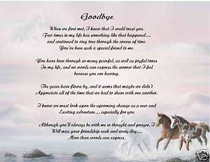 Friend Friendship Poem Print Gift   GOODBYE