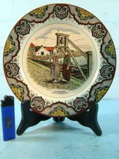 ANTIQUE POLYCHROME DELFT CHARGER MOOI NEDERLAND