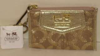 Gold Auth COACH Madison Op Art Mini Skinny 44618