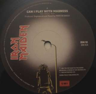 Iron Maiden Can I Play With Madness 12 PS x 2 Gatefold