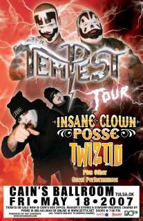 INSANE CLOWN POSSE rare TWIZTID concert poster