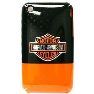 Apple iPhone 3G/3GS Harley Davidson Black Orange Logo Hard