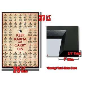 Zen Keep Karma and Carry On Poster Yin Yang List: Home & Kitchen