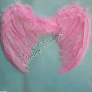 Cute Pink Angel Baby Infant Kid Child Feather Wings Fairy Costume