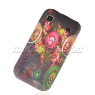 FLOWER SOFT SILICONE GEL TPU CASE COVER FOR SAMSUNG I9000 GALAXY S 69