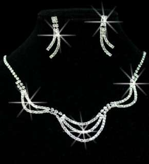 Fancy chic Wedding/Bridal Austria Crystal Necklace Set WD0638