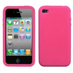 Apple iPhone 4 4g 4s Hot Pink Solid TPU Design AT&T Verizon Soft Case