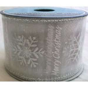 Sprakling Holiday, 3 Yards/ 9 Ft, Wire Edged Ribbon, Christmas House