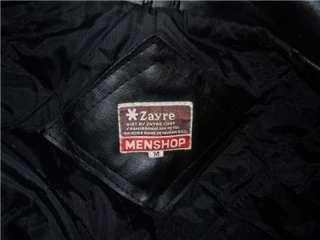 Vtg Non Leather Jacket Vegan Vegetarian Biker Punk Rock Size Mens Med