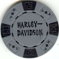 pc Harley Davidson Skull poker chips sample set #197
