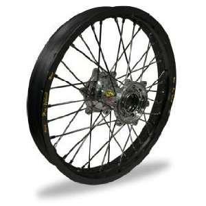 MX Rear Wheel Set   18x2.15   Black Rim/Silver Hub 24 52812 HUB/RIM