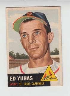 ED YUHAS #70 Saint Louis Cardinals Pitcher 1953 Topps Nm