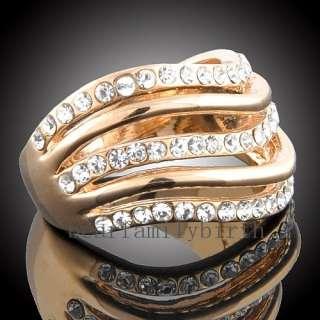 18k gold GP Swarovski Crystal fashion Ring 1303