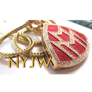 ICED OUT GOLD RICK ROSS MAYBACH MUSIC PENDANT CHAIN