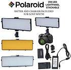 POLAROID 256 LED Light PANEL +BATTERY/CHARGER NP F750 FOR SONY HVR