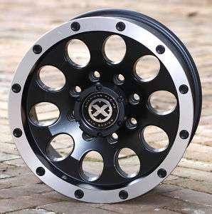 17 inch black Wheels ax186 FORD F250 F350 8 Lug 8x170