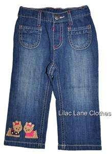Gymboree Pups and Kisses Yorkie Dog Pink Jumper Shirt Pants Jeans NWT