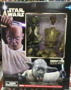 Star Wars Yoda & Mace Windu 1/7 Scale Model Kit