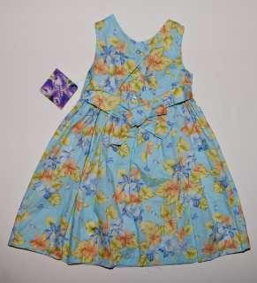 Blueberi Boulevard   NWT   Blue Floral Print Easter Girls Dress   Size