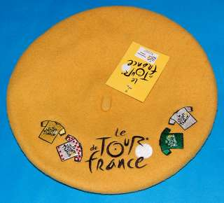 TOUR DE FRANCE 2011 Official Genuine Yellow Beret 4 Jersey Logo TDF