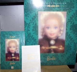 1996 Holiday Caroler porcelain Barbie doll Holiday NRFB
