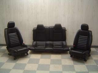 10 11 Mustang GT 5.0L Coyote Black Power Leather Seats