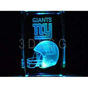 NFL New York Giants 3D Laser Etched Crystal Everything