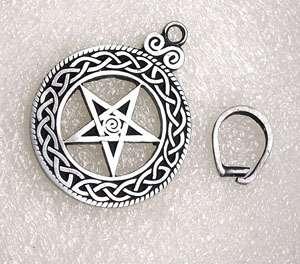 Celtic Pentacle Star Talisman Silver Pewter Pendant