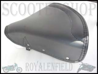 ROYAL ENFIELD NEW BLACK LEATHER SPRUNG SADDLE SEATS