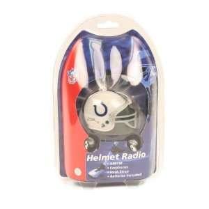 Indianapolis Colts AM/FM Helmet Radio with Earphones