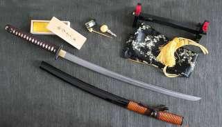 HAND FORGED FOLDED STEEL KATANA : SAMURAI SWORD (2204)