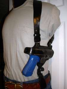 SPRINGFIELD XDM 3.8 LEATHER SHOULDER HOLSTER w/ MAGAZINE POUCH