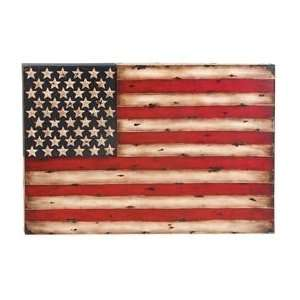 Star N Stripe USA Flag Metal Wall Art Decor Sculpture