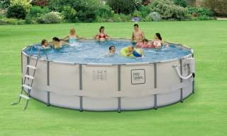 18x52 Round Ultra Frame Above Ground Swimming Pool Package