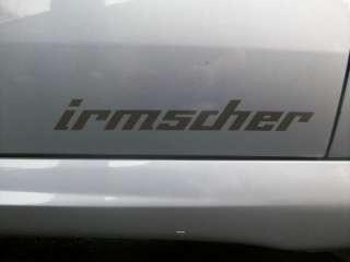 IRMSCHER** TWO DECALS LOGO STICKERS @ 240mm X 40mm