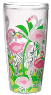 Tropical Pink Flamingo Insulated Tumblers 24 oz S/4