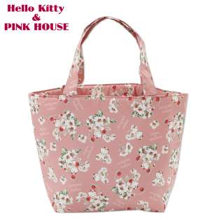 Hello Kitty Mini Tote Shoulder Hand Bag Lunch Sanrio Pink House Lovely