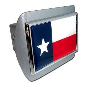 Lonestar State of Texas Brushed Silver with Chrome Red White