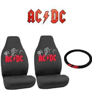 AC/DC Rock n Ride Car Truck SUV Universal Fit Bucket Seat Covers Pair
