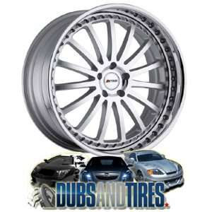 com 20 Inch 20x9 Petrol wheels Faust Silver w/ Chrome Lip wheels rims