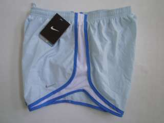 NIKE WOMEN LIGHT BLUE DRI FIT RUNNING SHORT MED NWT